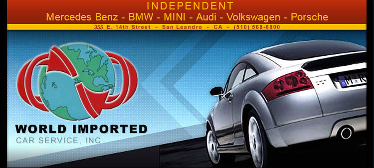 World Imported has served the S.F. East Bay European auto service needs since 1968. World Imported Car Service has proven their commitment to import car repair and customer satisfaction
